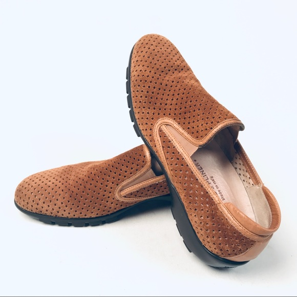 Donald J. Pliner Shoes - Donald J Pliner Perforated Suede Slides/ Loafers